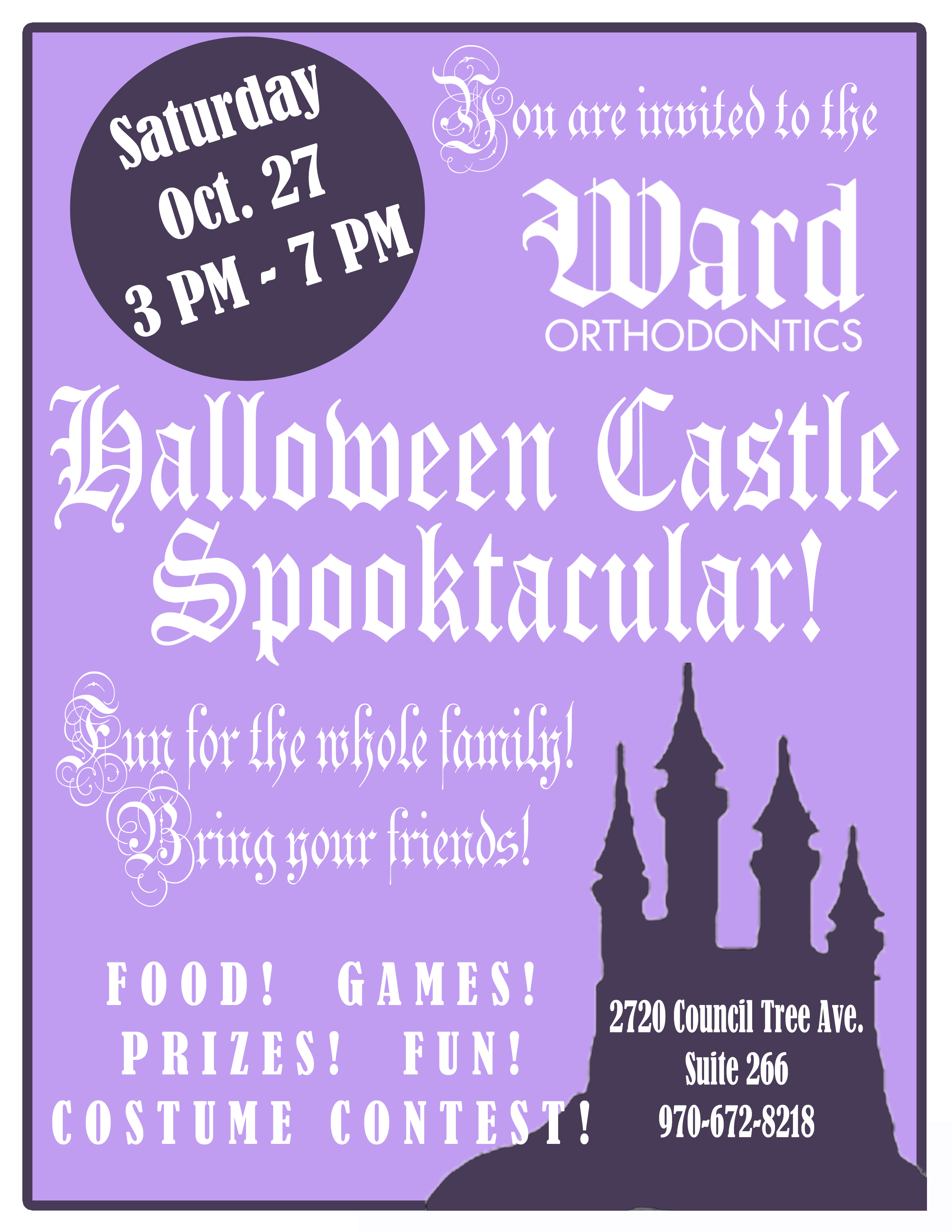 halloween party flyer copy | Fort Collins Orthodontist Ward ...